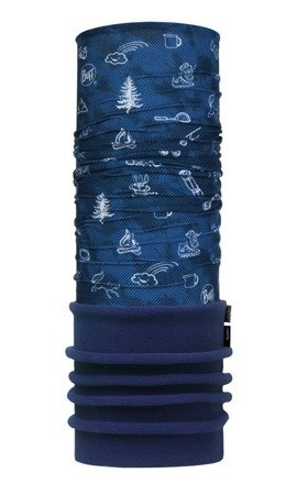 Komin Dziecięcy Junior Polar US Buff FUNNY CAMP NAVY