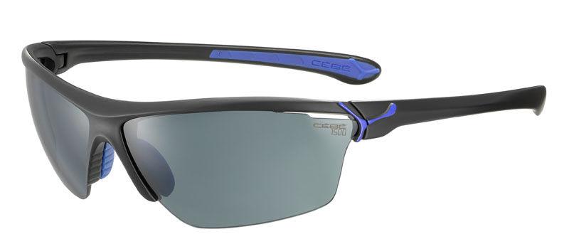 Sportowe okulary przeciwsłoneczne CEBE Cinetik Cat.0, 0, 3 Matt Black Blue 1500 Grey Flash + Clear + Yellow