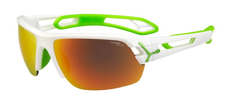Sportowe okulary przeciwsłoneczne CEBE S'track Medium Shiny White Anis Cat.3 + Cat.0