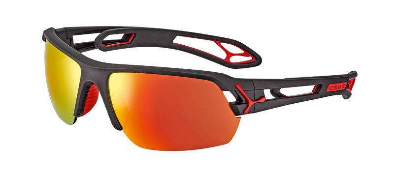 Sportowe okulary przeciwsłoneczne CEBE S'track Medium Matt Black Red Cat.3 + Cat.0