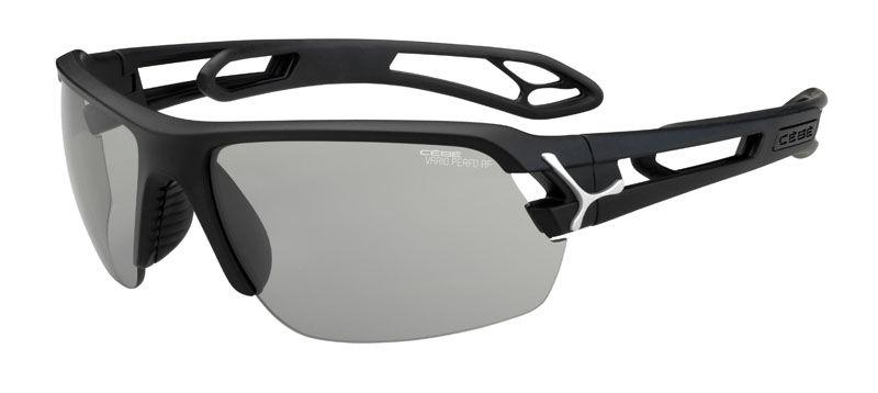 Sportowe okulary przeciwsłoneczne CEBE Fotochrom Cat.1-3 S'track Medium Matt Black Silver