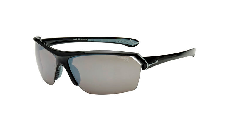 Sportowe okulary przeciwsłoneczne CEBE Wild Matt Black Grey 1500 Grey Flash + Clear + Yellow